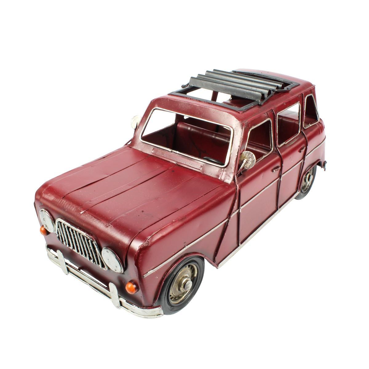 Miniatura de Metal Retrô Renault 4L Vinho