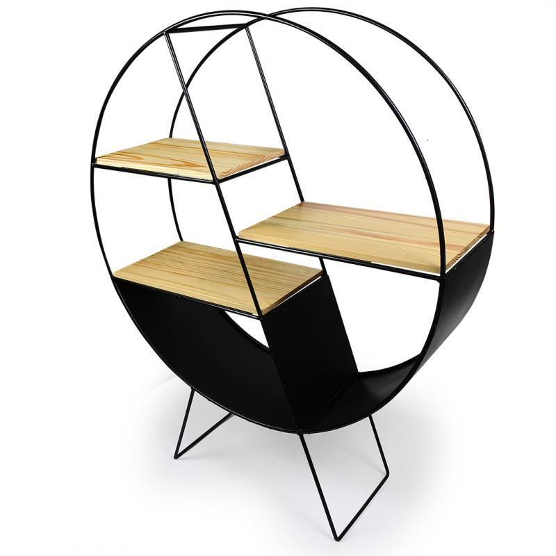 Mobília de Chão Metal/Madeira Decor-Glass Design Exclusivo