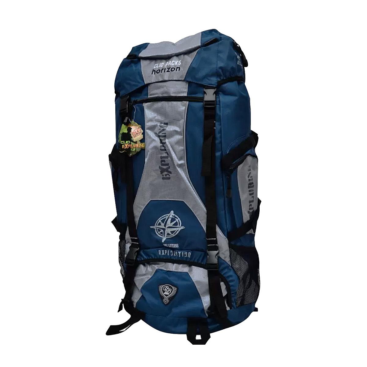 Mochila De Camping 70 Litros Azul MC3102 Clio