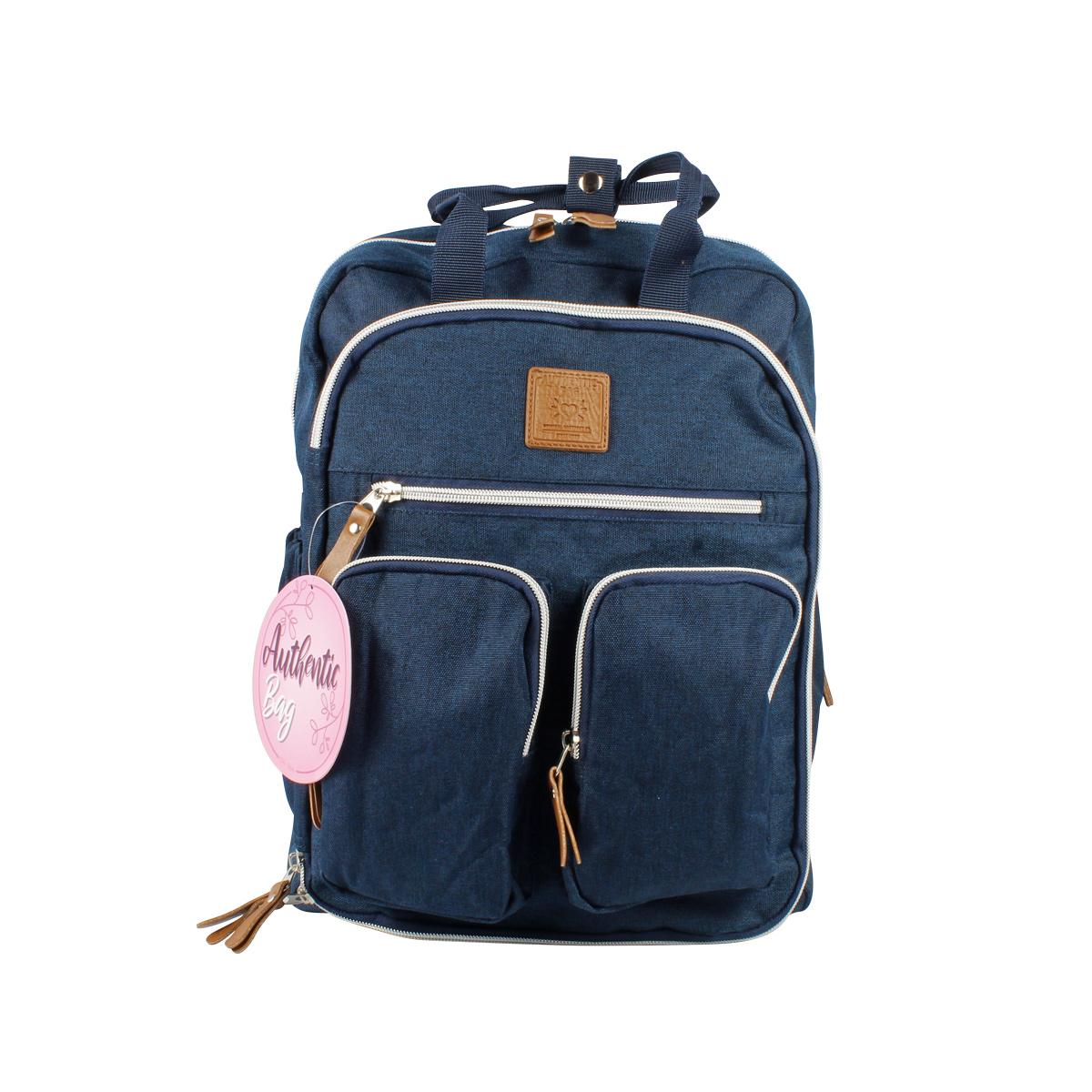Mochila Maternidade Mommy Bag MM3302 Azul Marinho Original Clio