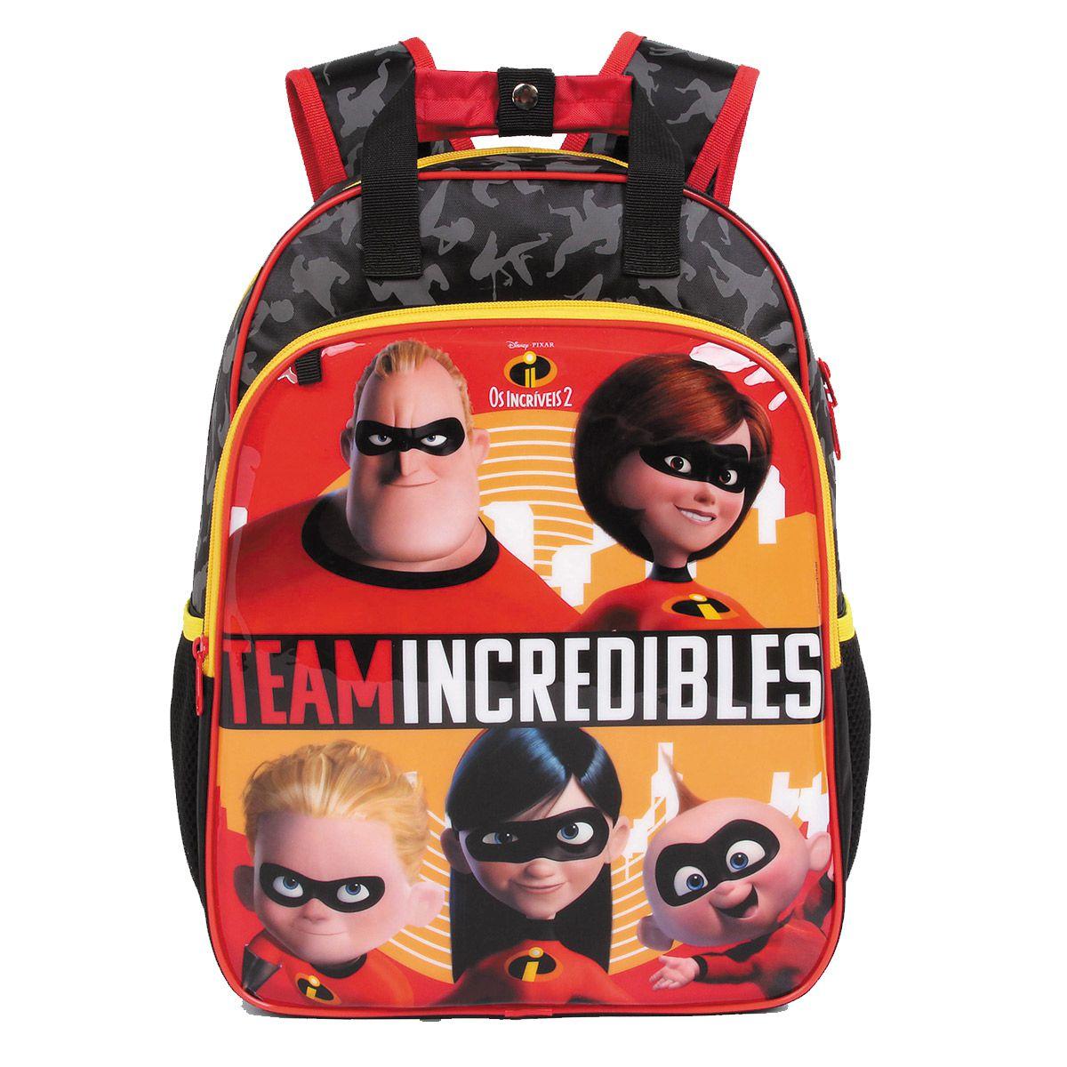 Mochila Os Incríveis 2 Oficial Team Incredibles + Estojo Disney