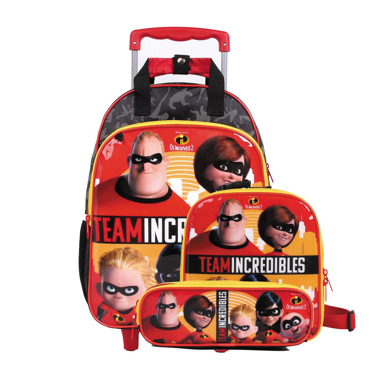 Mochilete Os Incríveis 2 Oficial Team Incredibles + Lancheira + Estojo Disney
