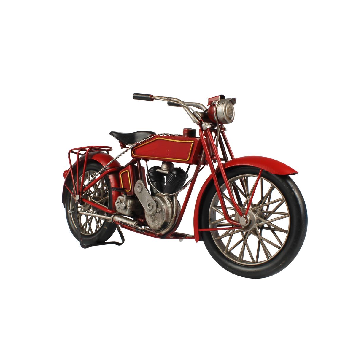 Moto De Metal Decorativa Harley Davidson Red 1917