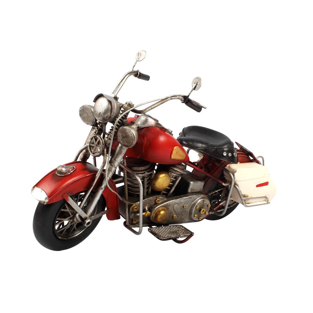 Moto De Metal Retrô Harley Davidson Red 1708