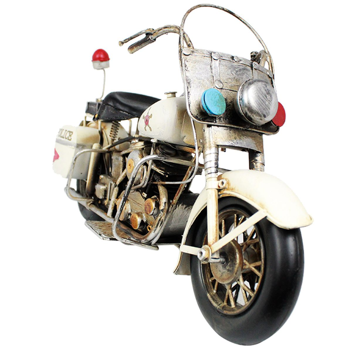 Moto de Metal Vintage Harley Davidson Police 1615