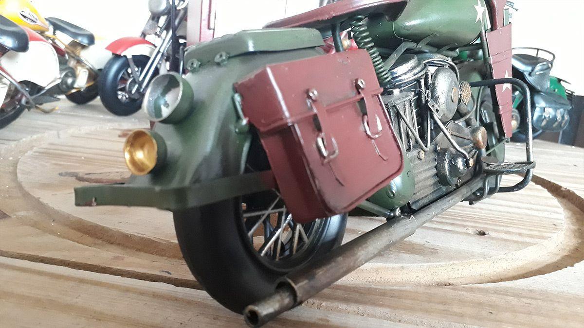 Moto Harley-Davidson WLA 1942 de Metal Militar