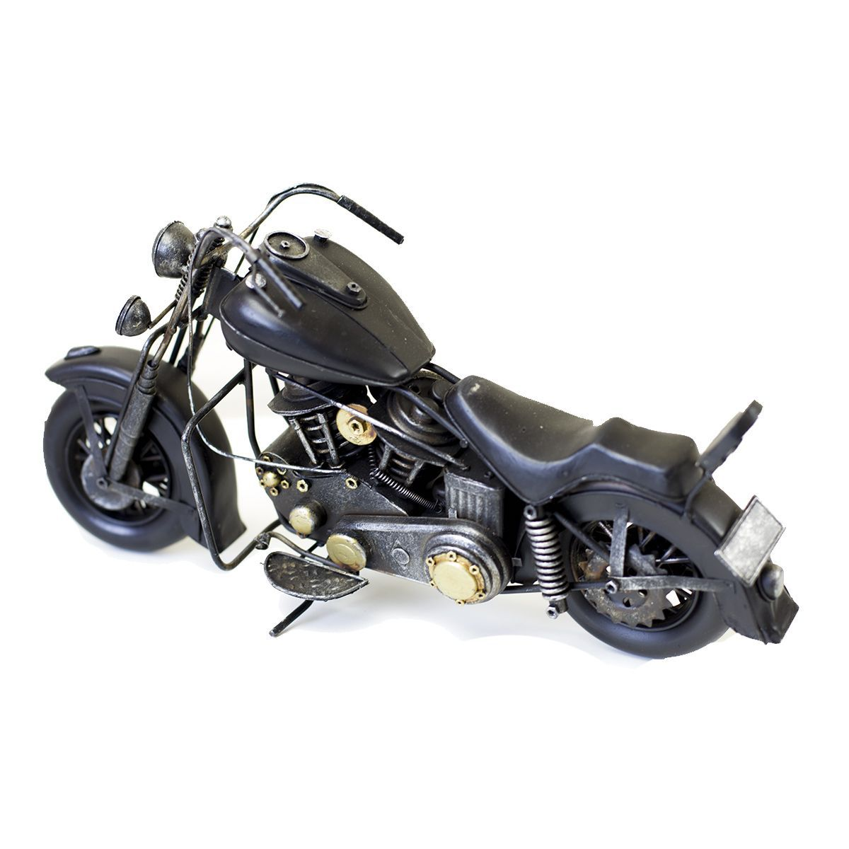 Moto Vintage decorativa de Metal Black & Ferrugem