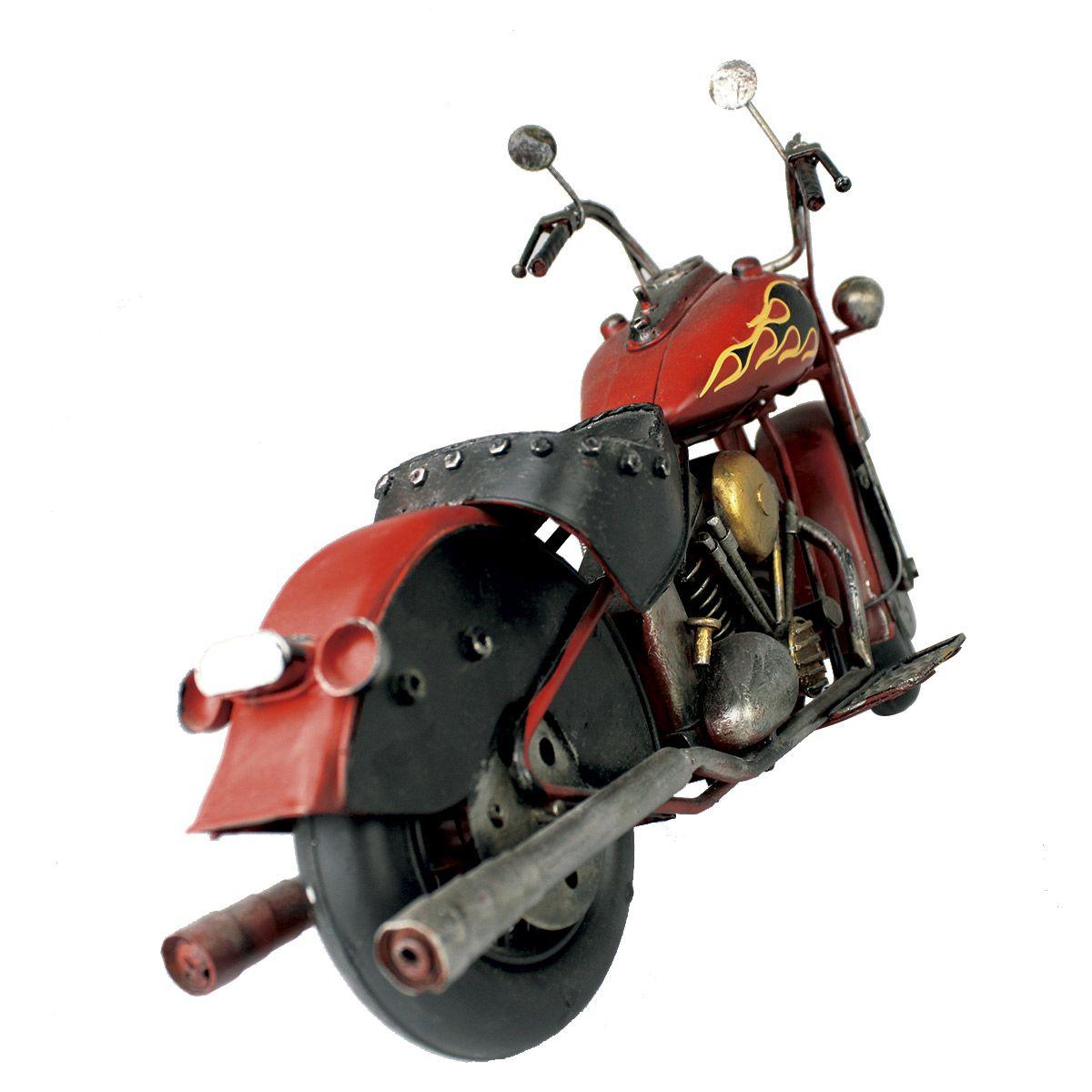Moto Vintage decorativa de Metal Red Fire 1208