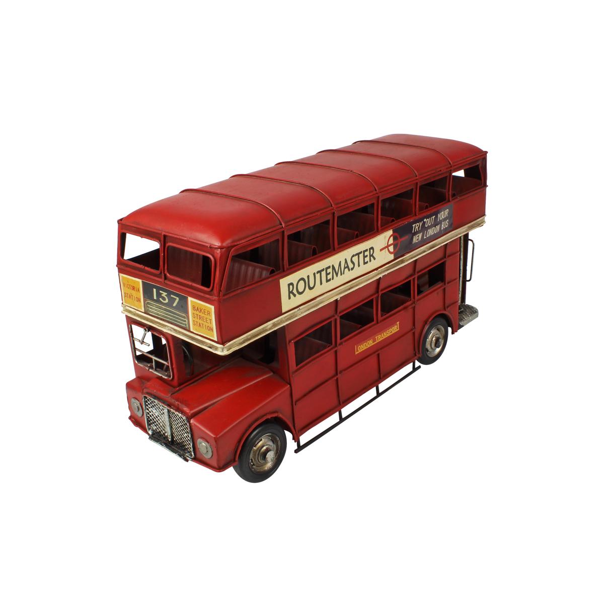 Ônibus de Metal Bus N° 137 London Routemaster Double Vermelho