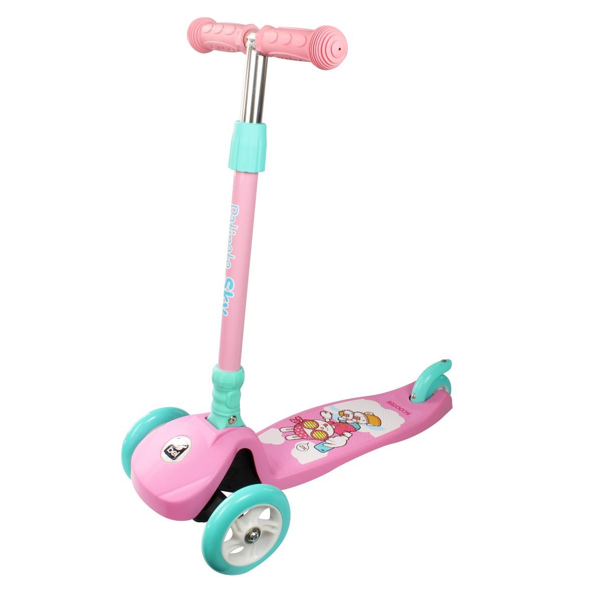 Patinete Infantil Regulável Sky Rosa Belfix