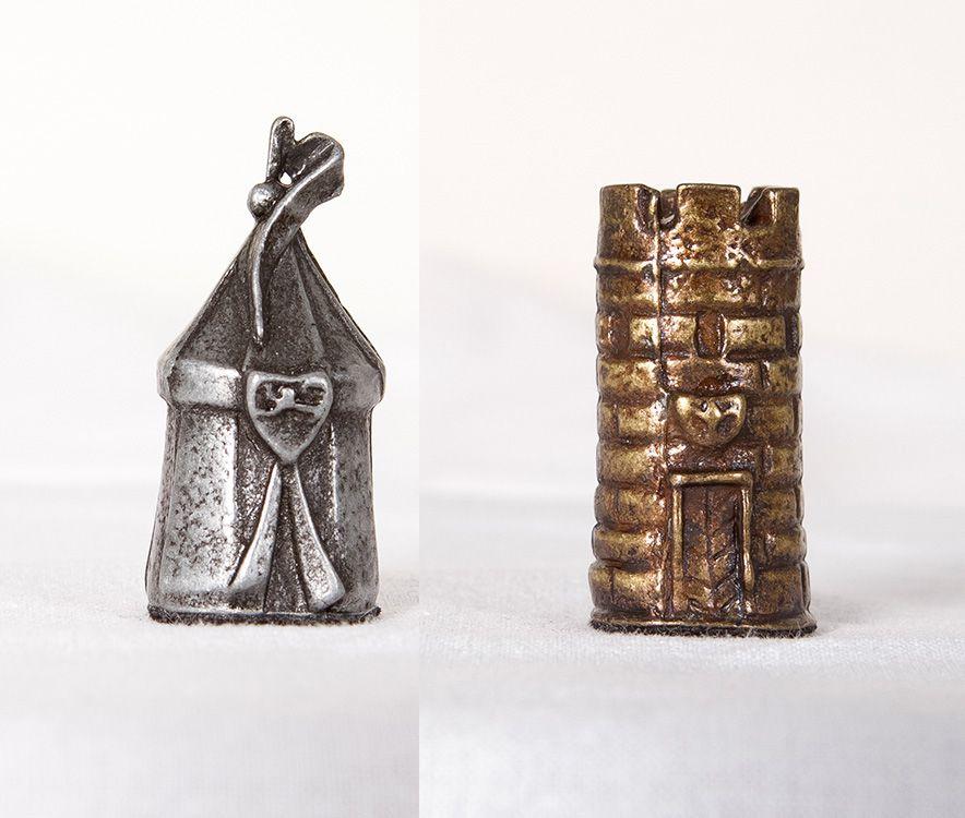 Peças para Jogo de Tabuleiro de Xadrez Tema Medieval