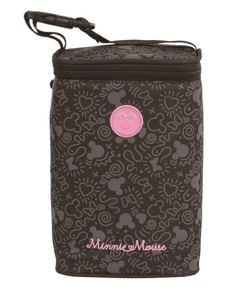 Porta Mamadeira Térmico Minnie Mouse Disney Baby Preto.