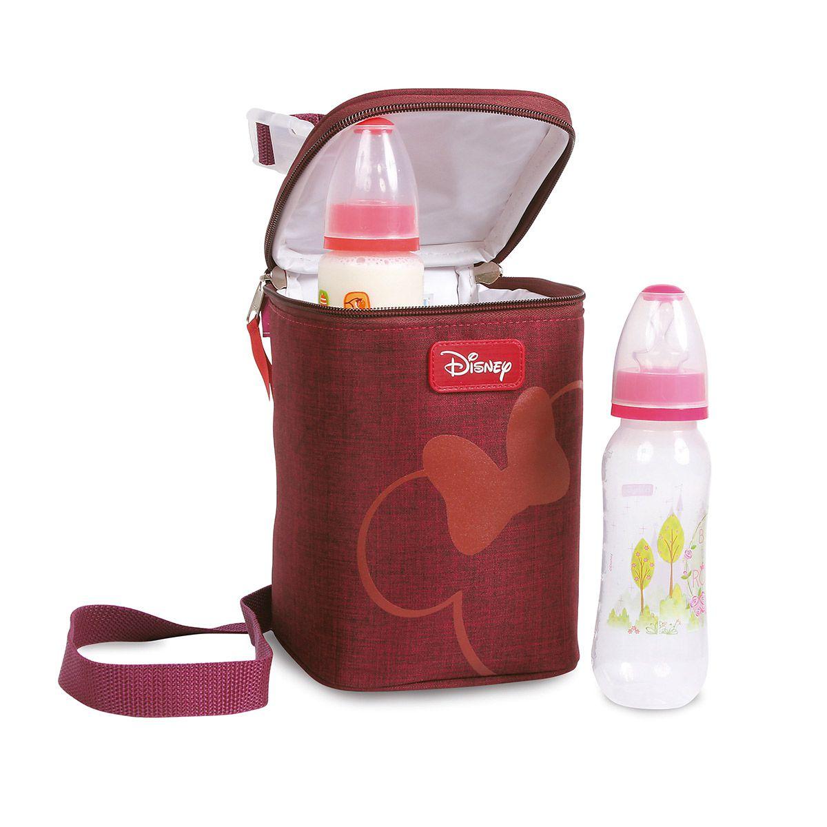 Porta Mamadeira Térmico Minnie Mouse Disney Baby Vinho.