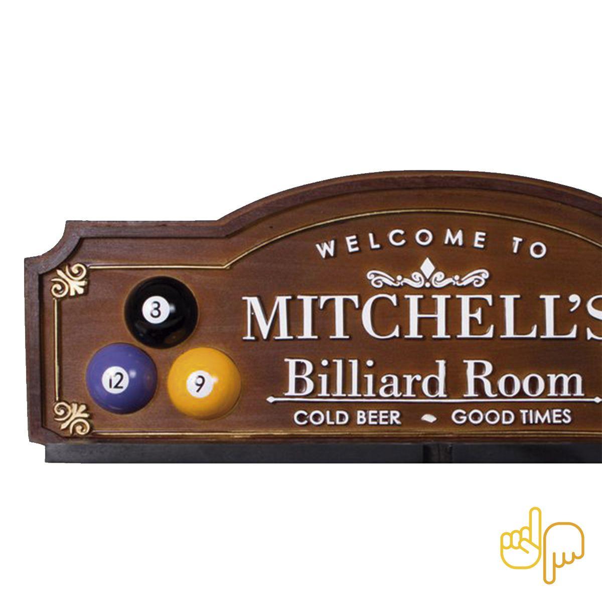 Porta-Tacos Sinuca Mitchell´s Billiard Room