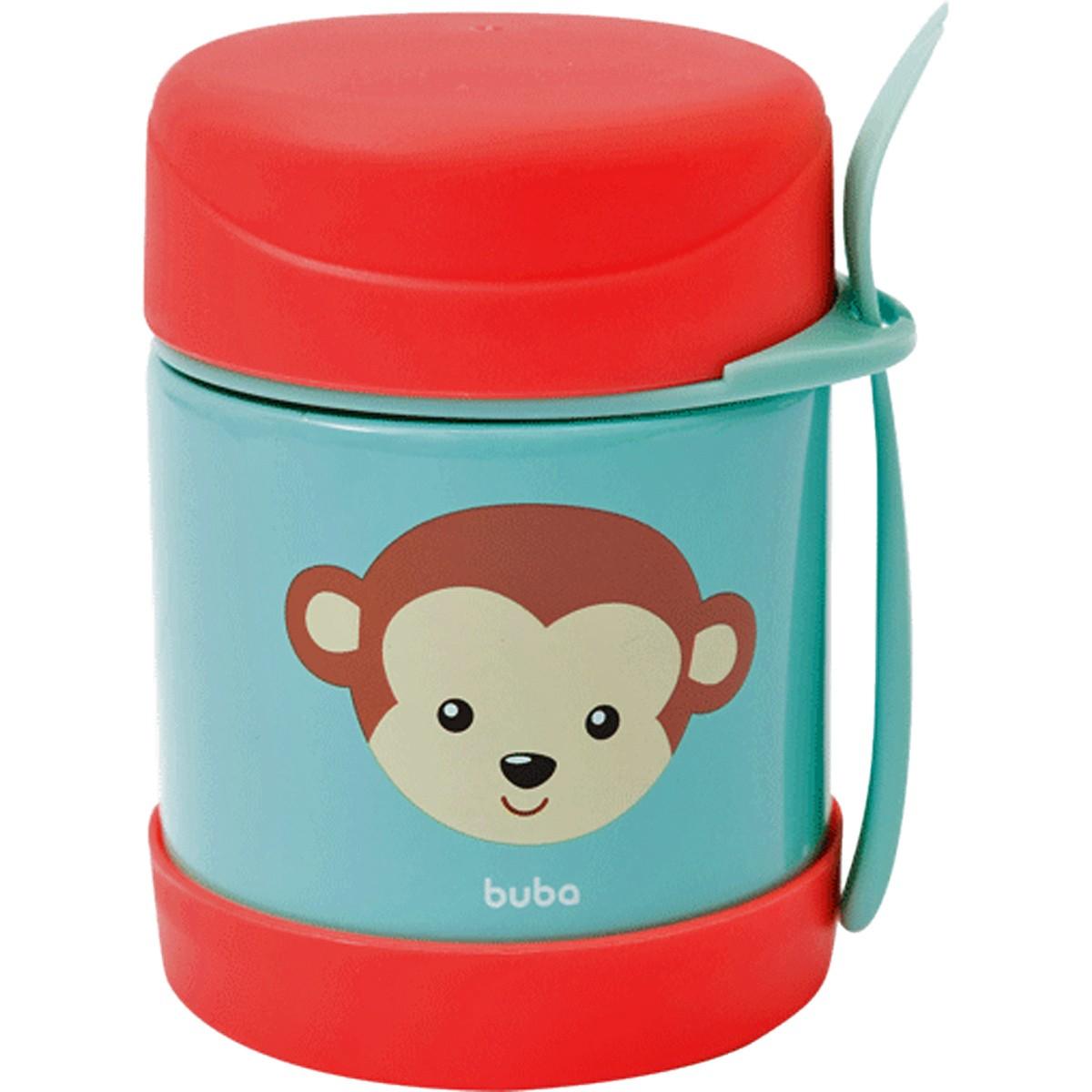 Pote Térmico C/ Talher Animal Fun Macaco Buba
