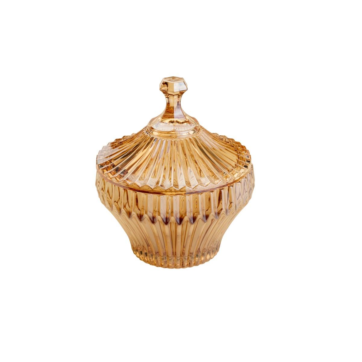 Potiche De Cristal Renaissance Ambar Pequeno Lyor