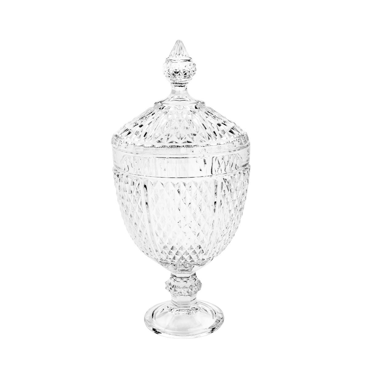 Potiche Decorativo C/ Pé De Cristal Perseu Lyor