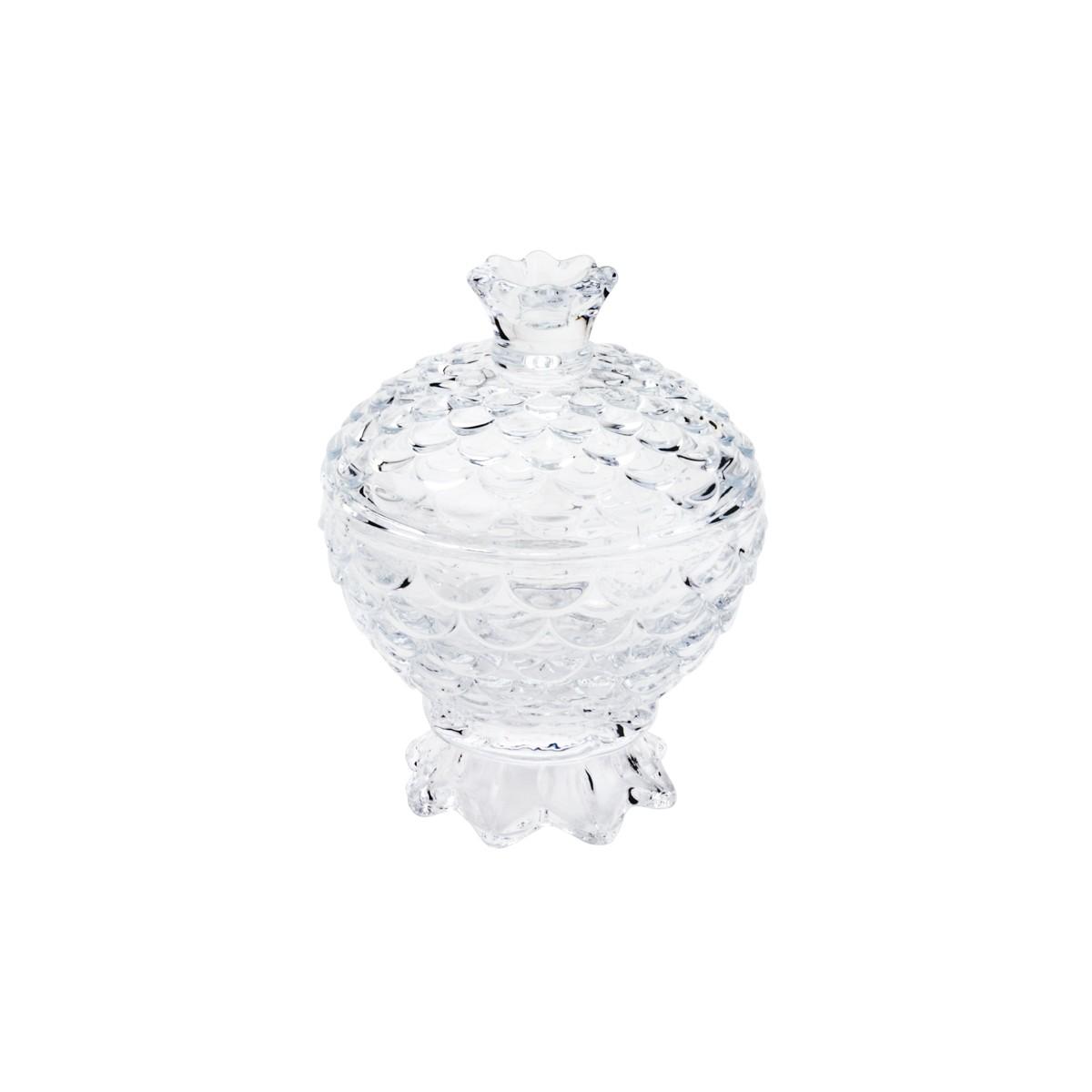 Potiche Decorativo C/ Pé De Cristal Pineapple Lyor