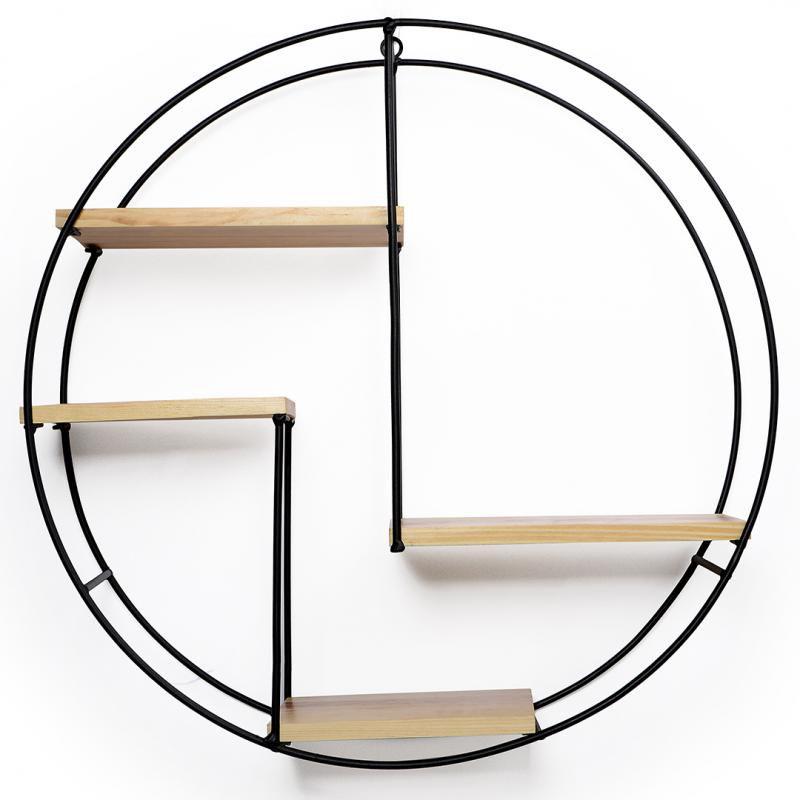 Prateleira Metal/Madeira Decor-Glass Design Exclusivo