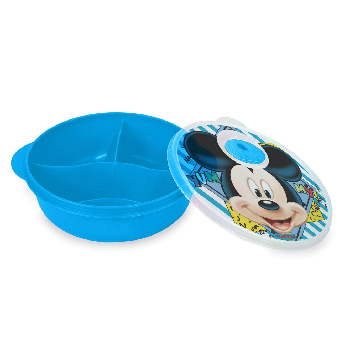 Prato c/ Divisões e Tampa p/ Micro-Ondas Disney Mickey Baby 1291