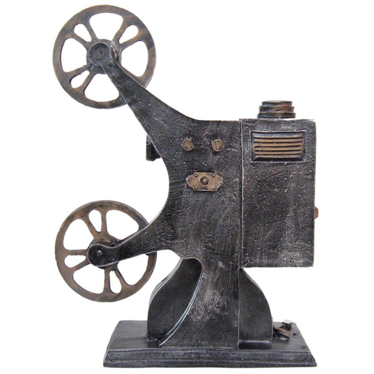 Projetor de Filme Retrô Pura Nostalgia Feito em Resina.