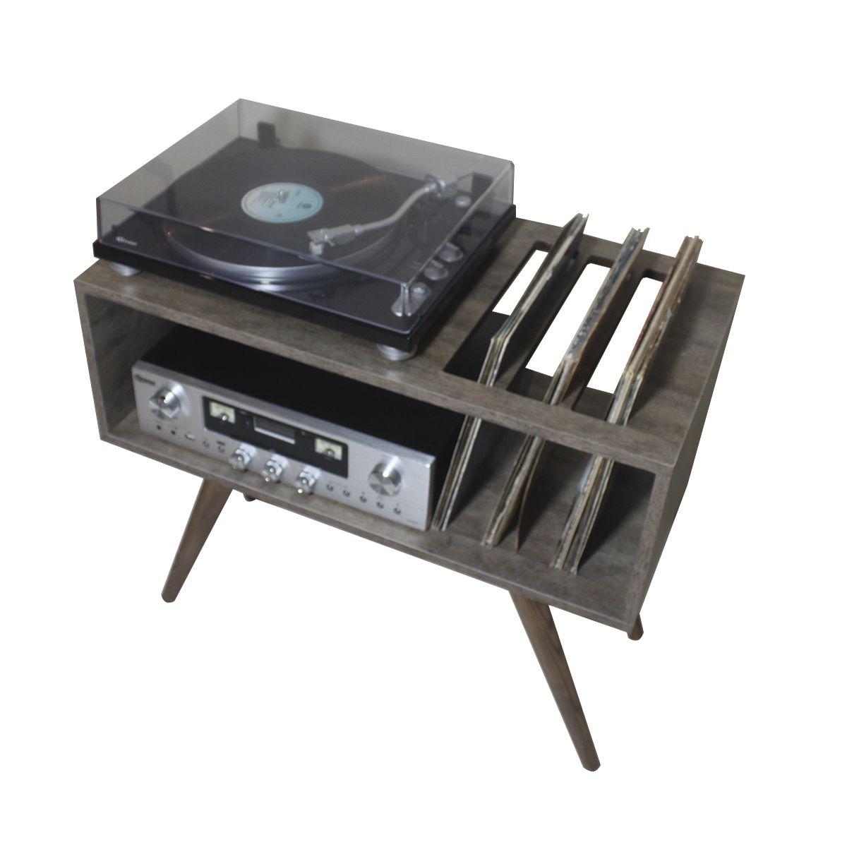 Rack para Toca Discos c/ suporte para LP´S Cool and Modern