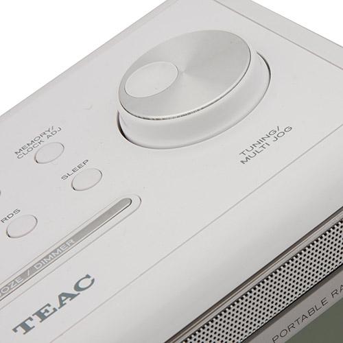 Rádio Relógio TEAC R-5 Branco AM/FM