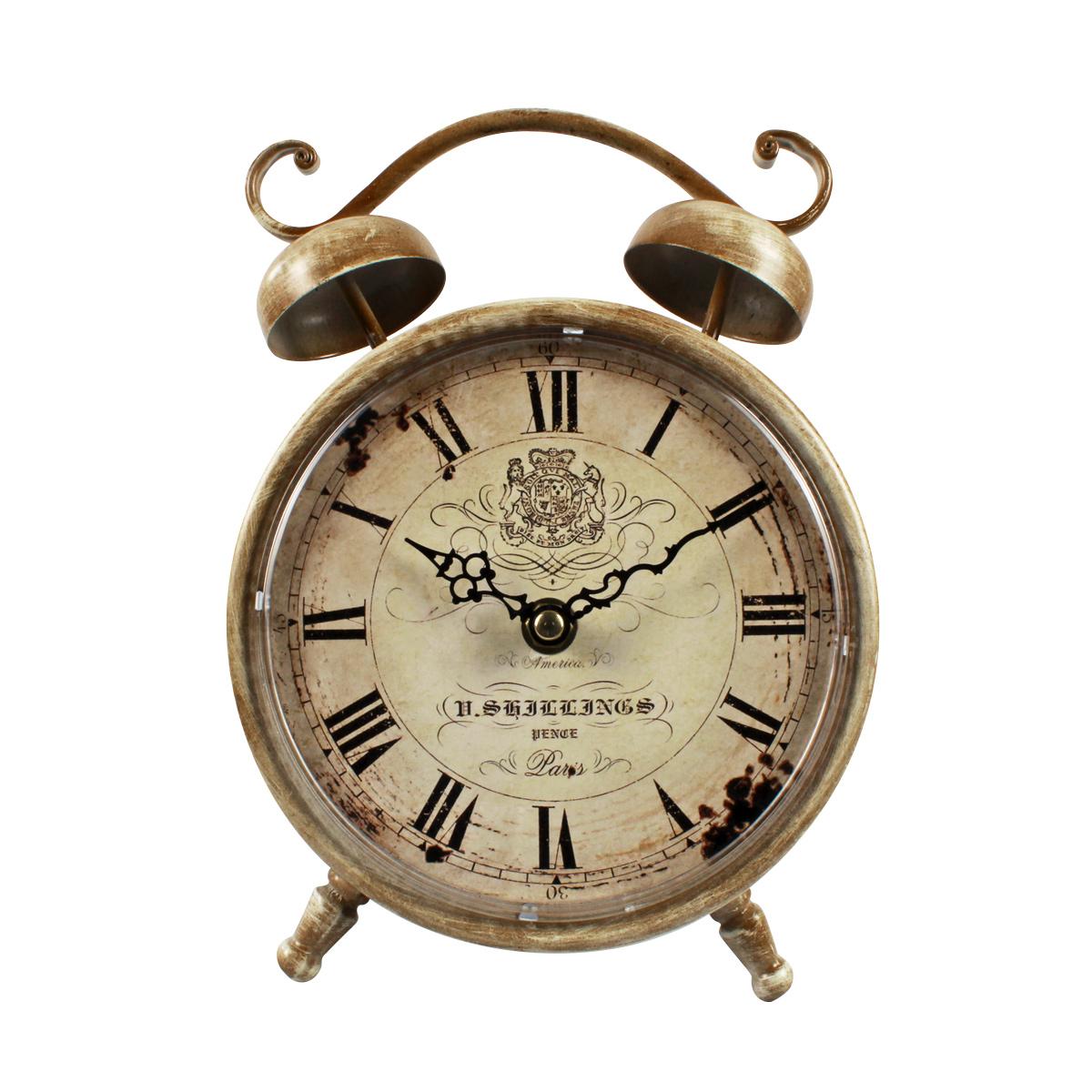 Relógio De Mesa De Metal V. Shillings Pence Paris