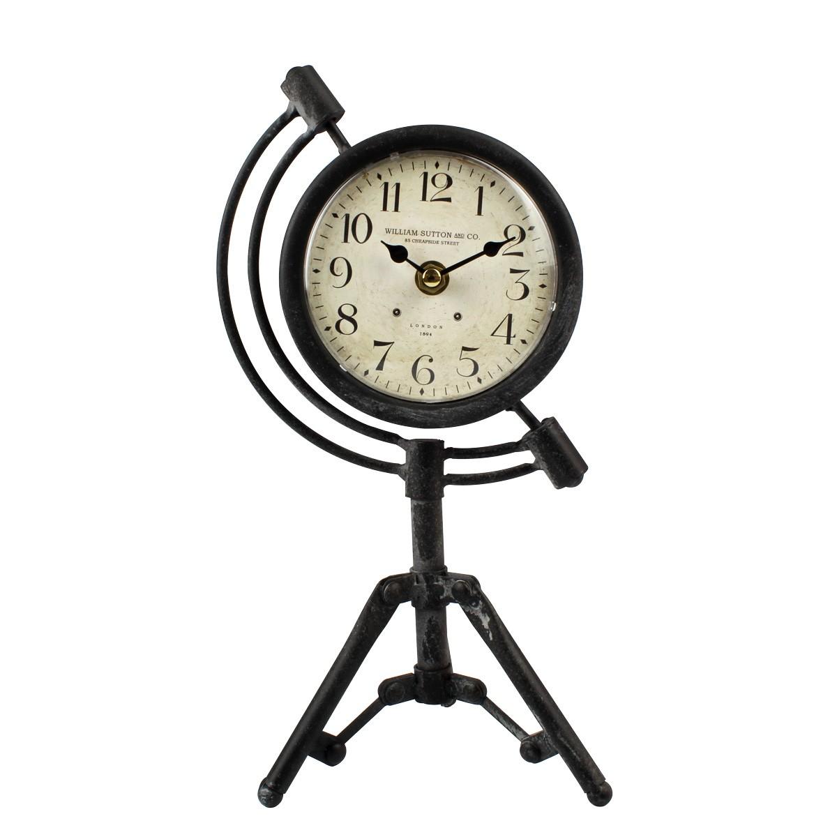Relógio De Mesa Tripé Retrô William Sutton And CO. London 1894