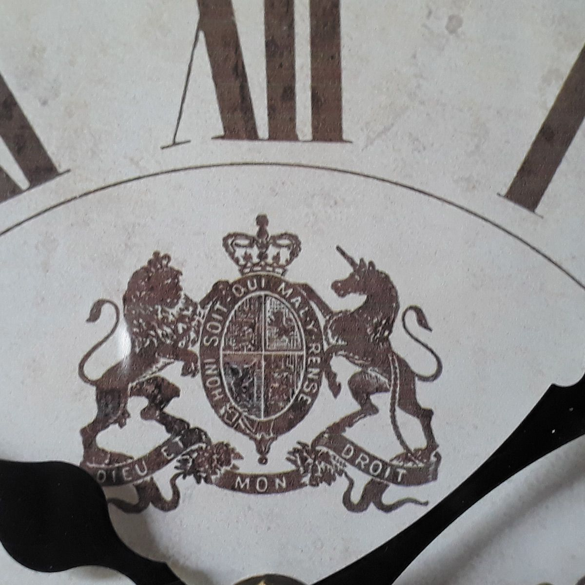 Relógio de parede dupla Castle Nobre 1847