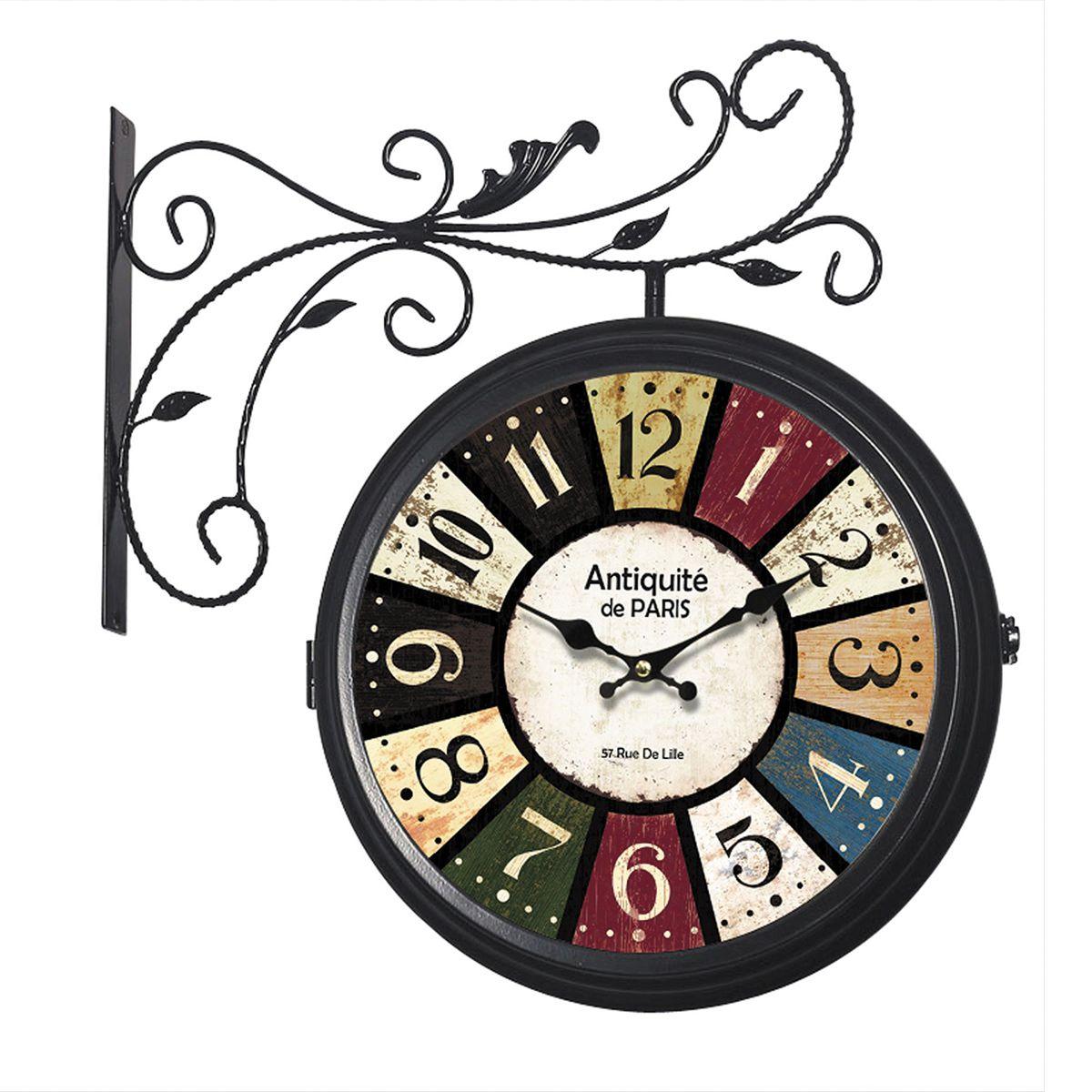 Relógio de parede dupla face Antiqueté de Paris
