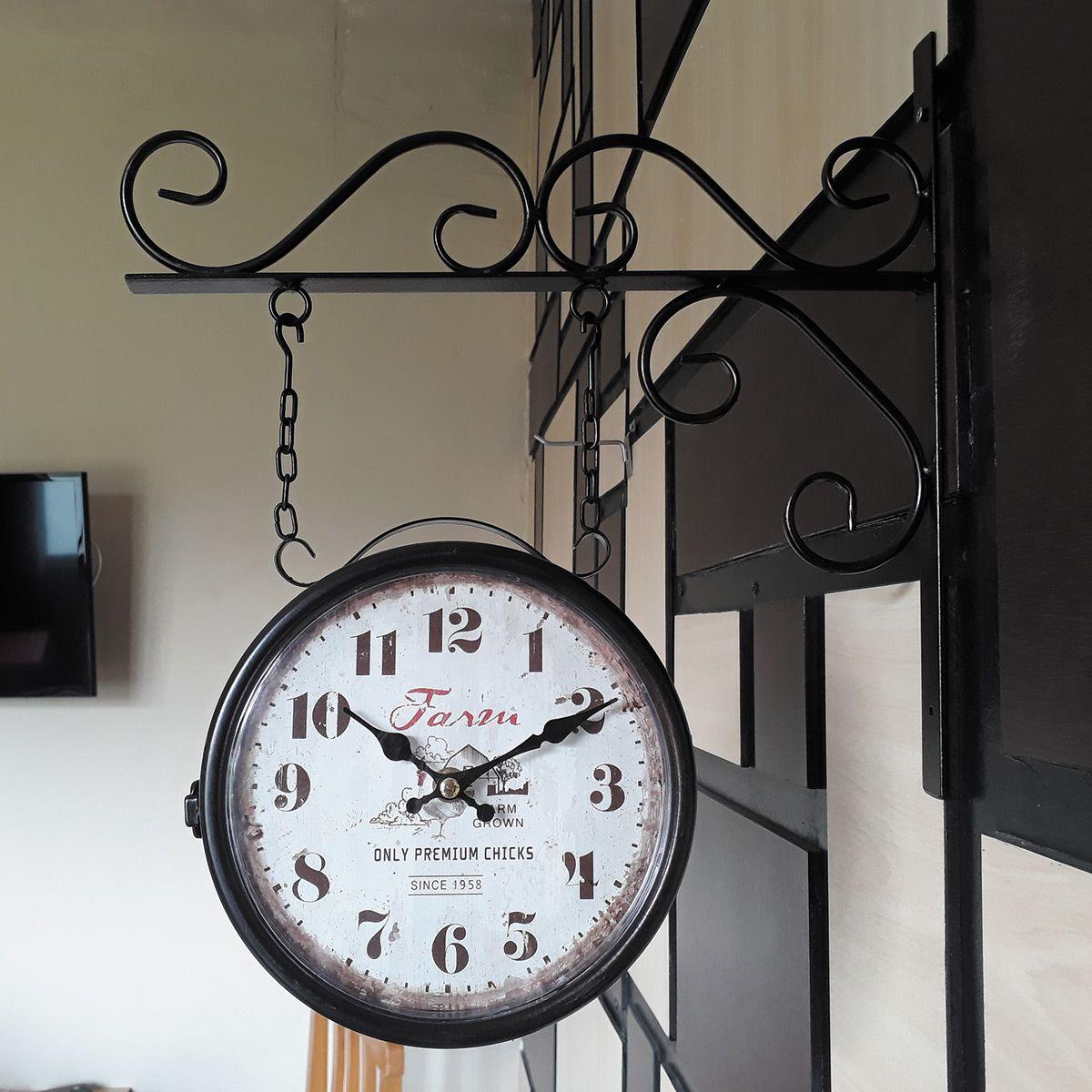 Relógio de parede dupla face c/ corrente Farm Grown 1958