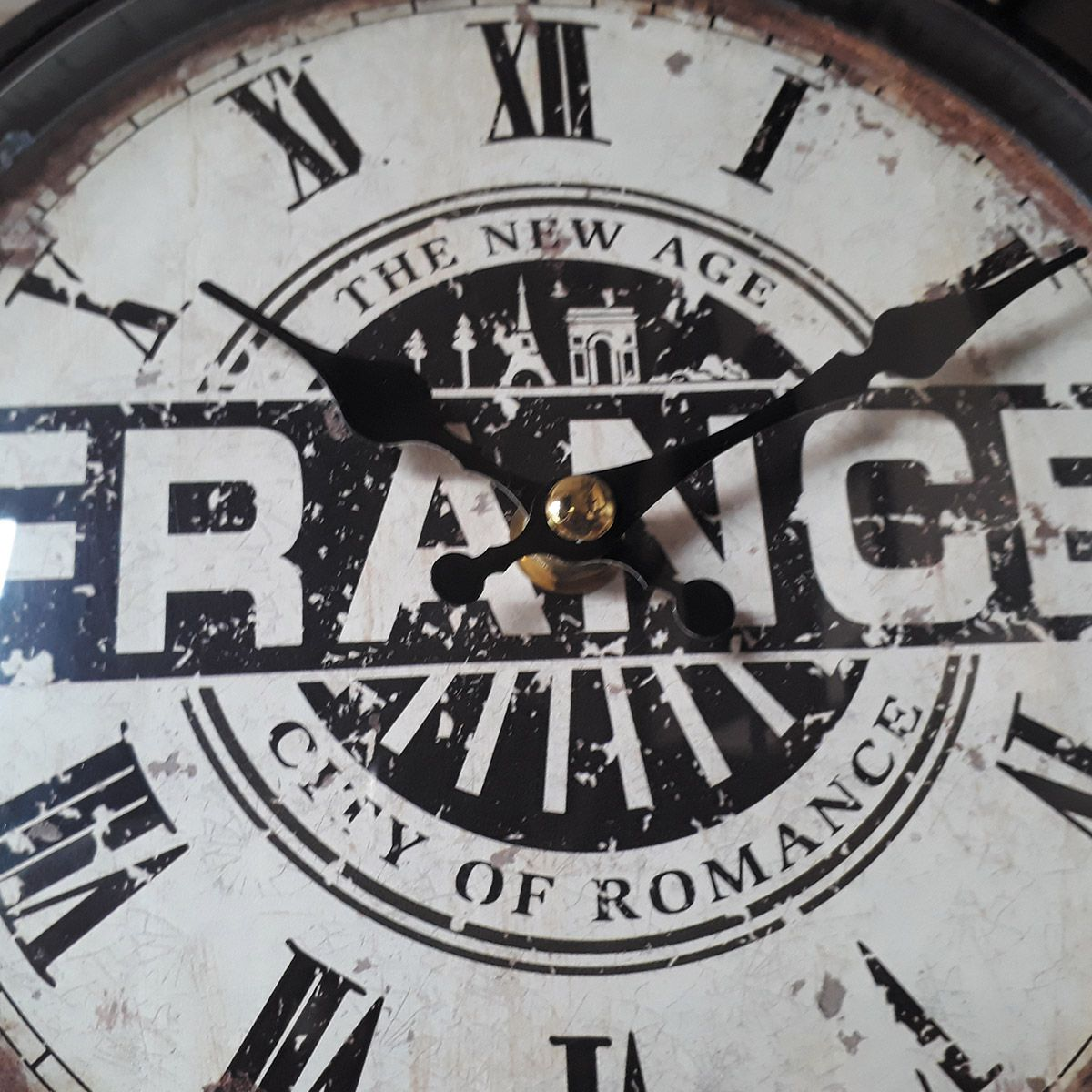 Relógio de parede dupla face c/ corrente France - City Of Romance