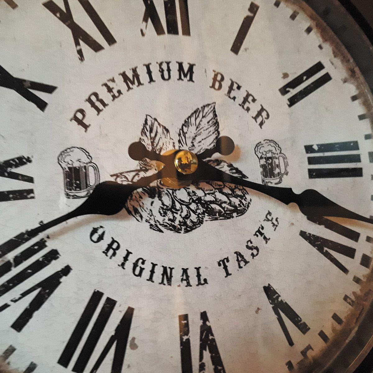 Relógio de parede dupla face c/ corrente Premium Beer