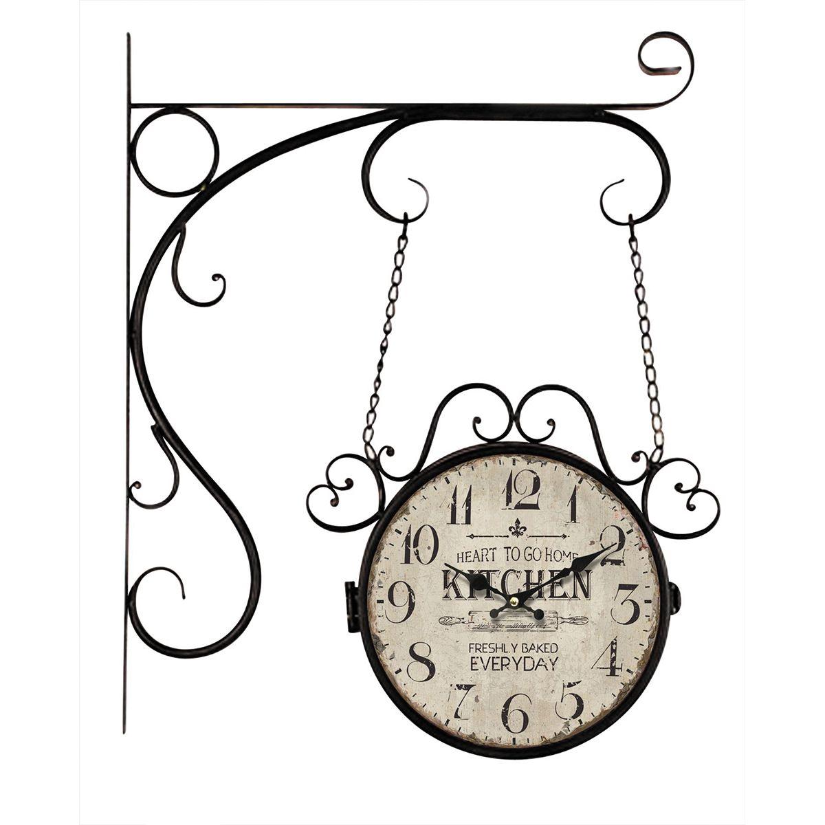 Relógio de parede dupla face c/ correntes Kitchen