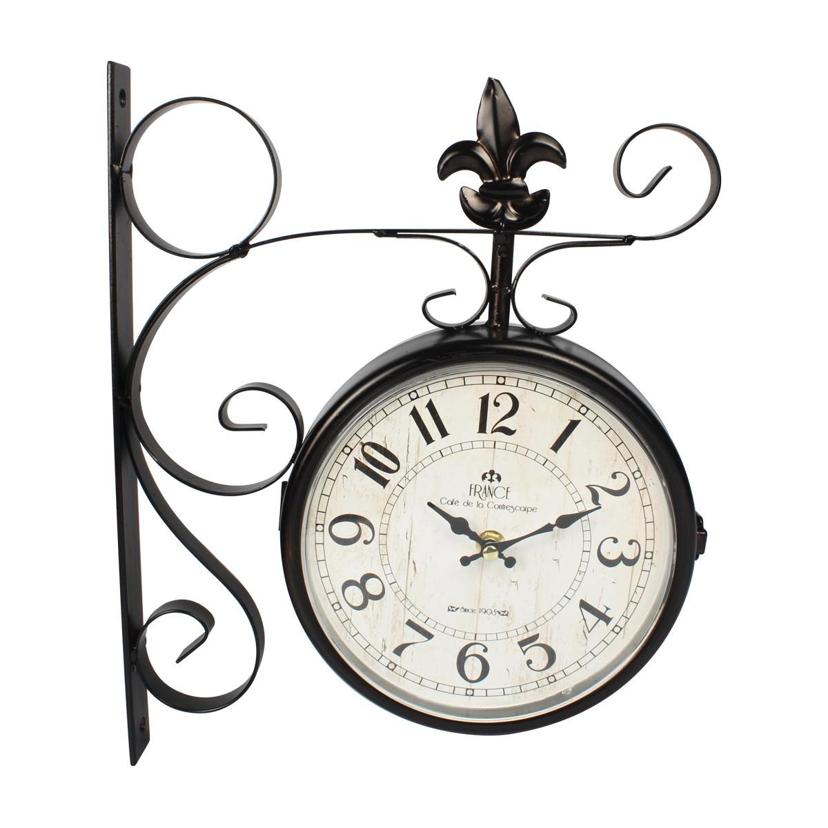 Relógio De Parede Dupla Face France Cafe De La Contrescarpe