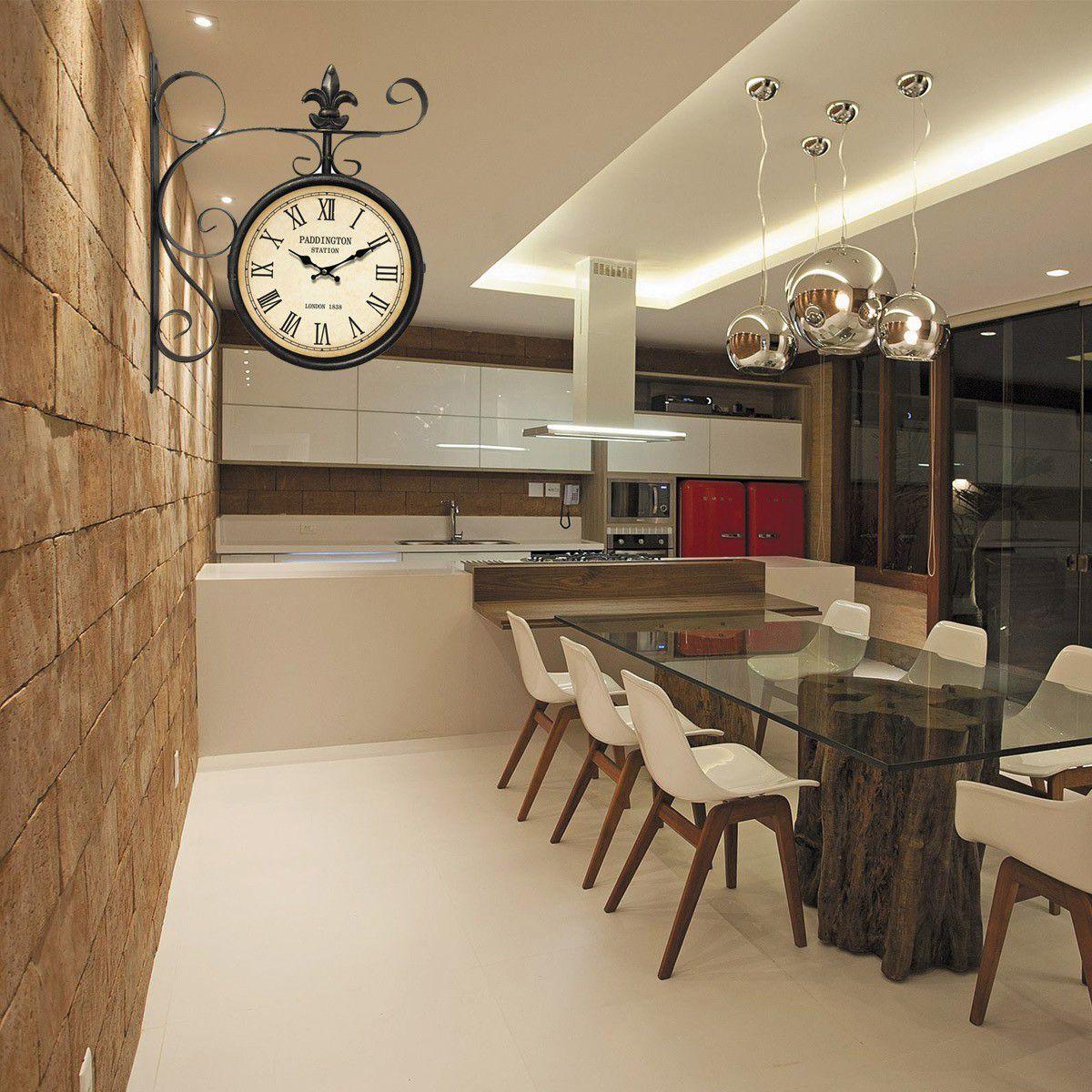 Relógio de parede dupla face Paddington London 1838