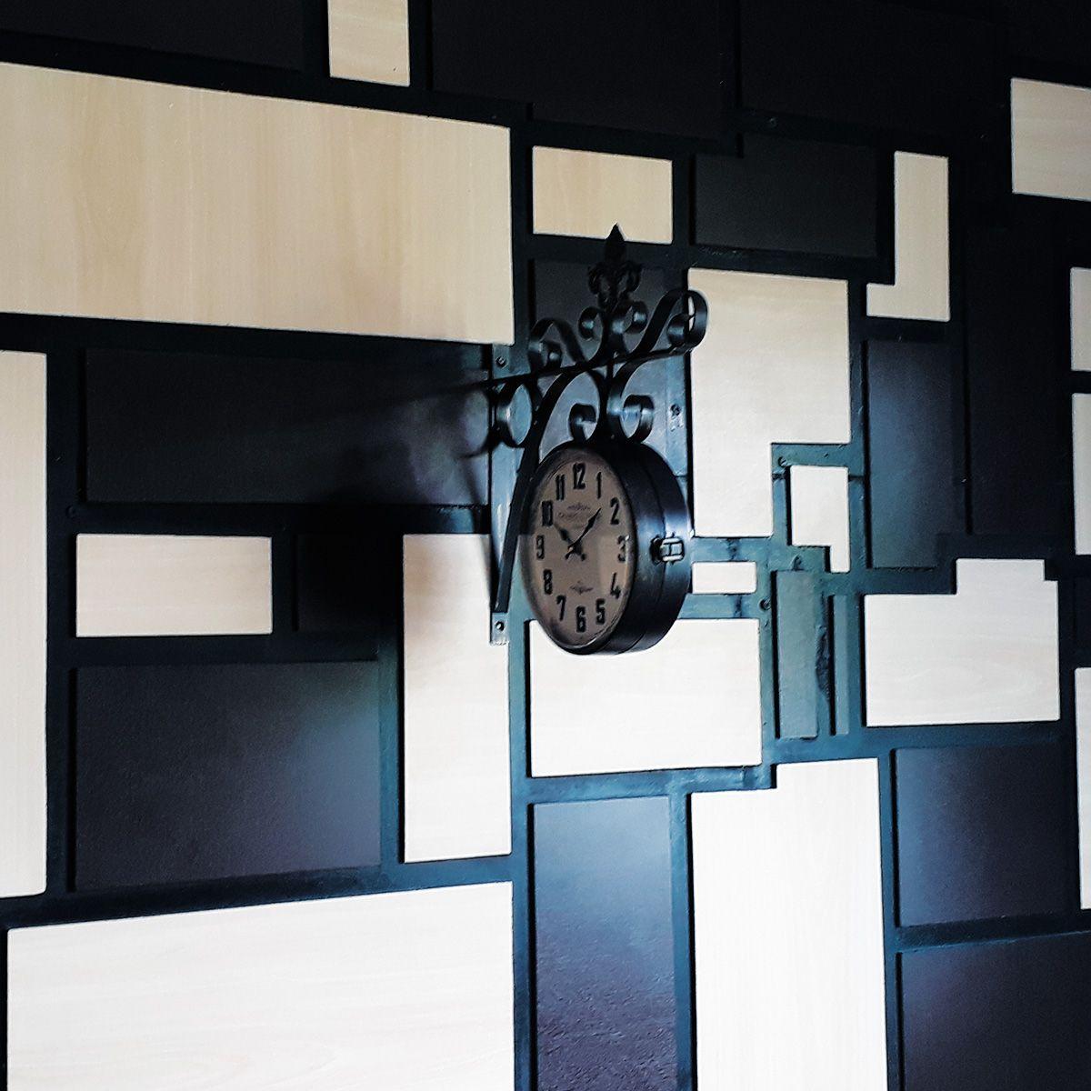 Relógio de parede dupla mod. France - Champs Elysses