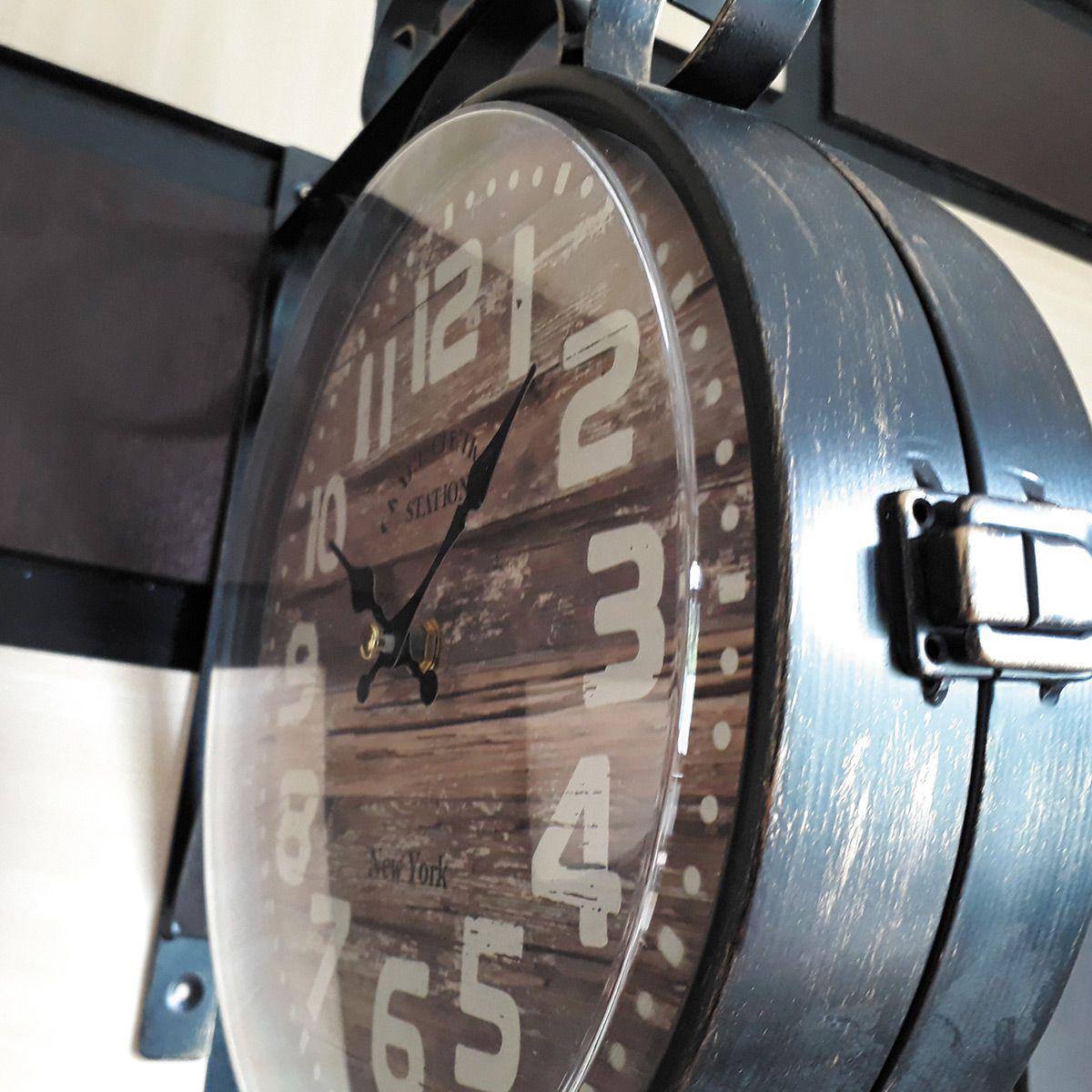 Relógio de parede dupla New York Grand Central Station