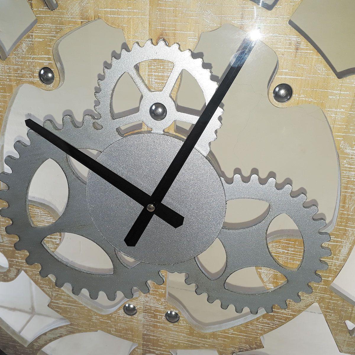 Relógio de Parede Vazado mod. Engrenagem 60cm