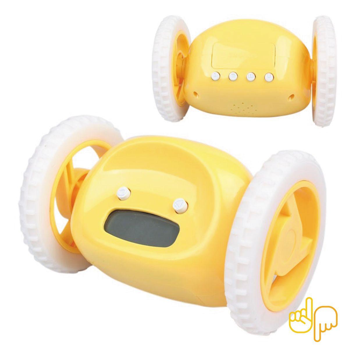 Relógio Fugitivo Despertador Que Corre de você - Amarelo