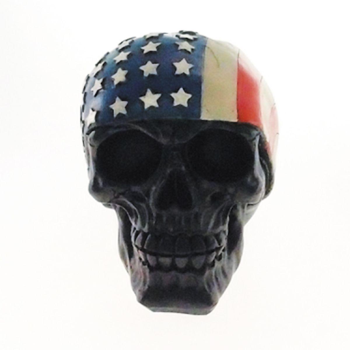 Skull Caveira com Bandeira Americana
