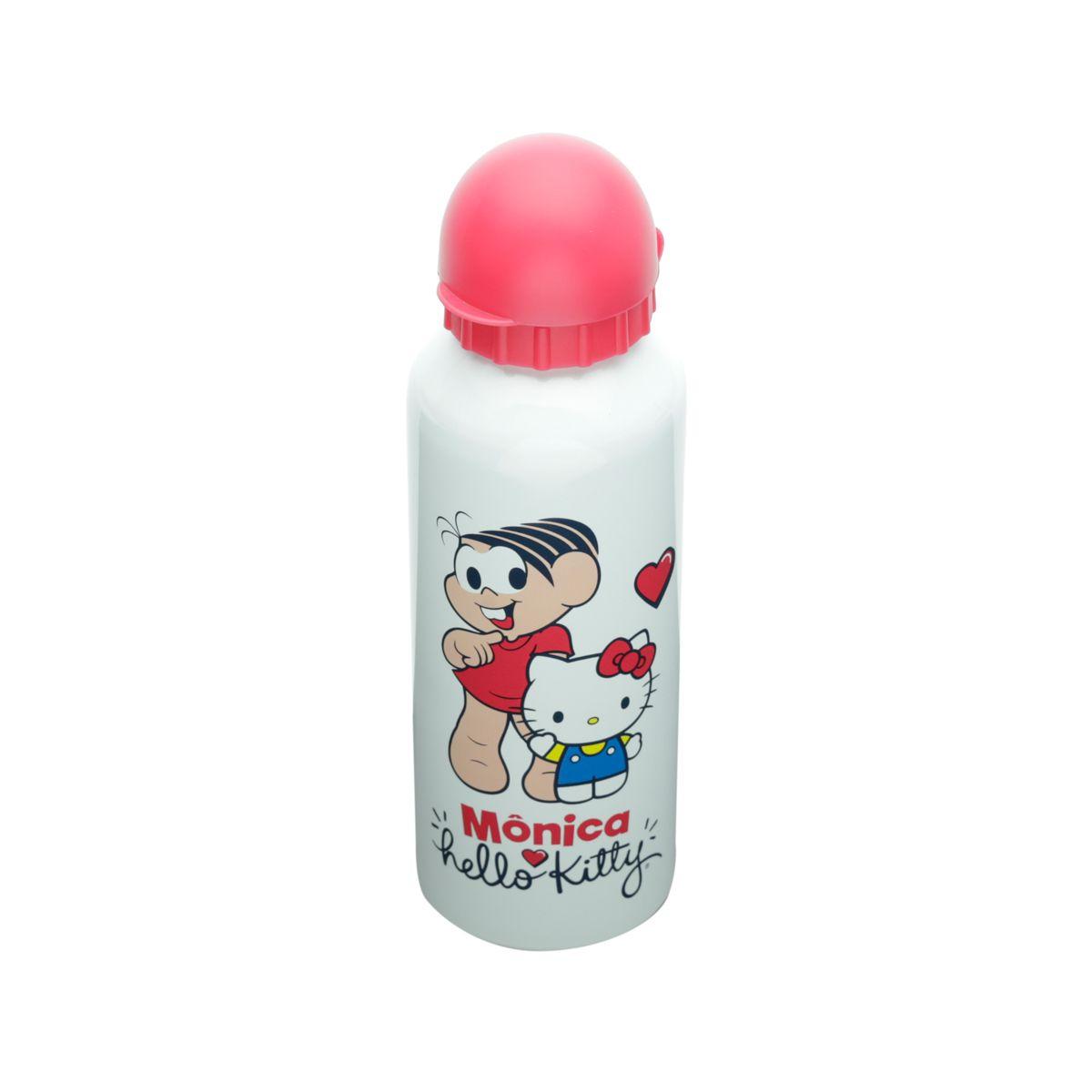 Squeeze Aluminio Hello Kitty Turma Da Monica Fd Oficial 500ml Branco