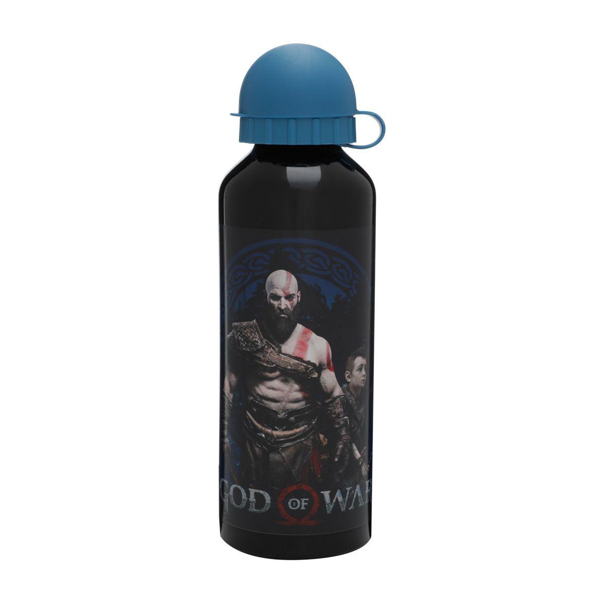 Squeeze Aluminio Kratos God of War Oficial 500ml Black