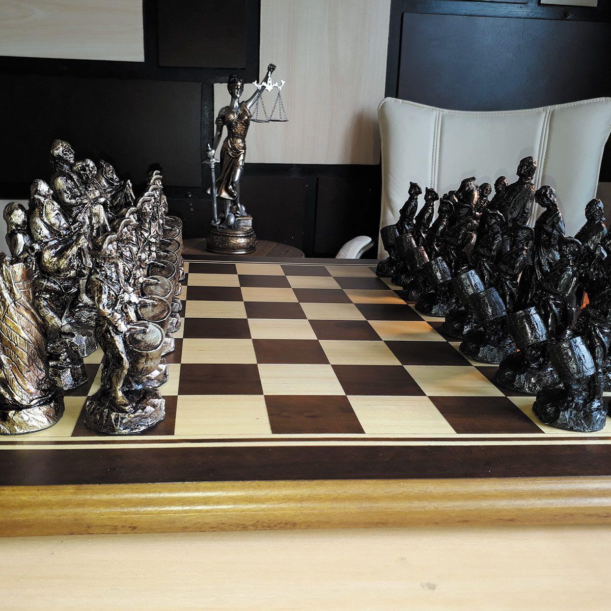 Tabuleiro de xadrez Luxo Guerra da Independência Americana