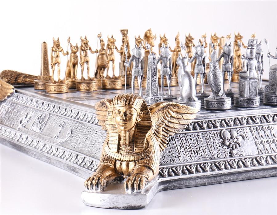 Tabuleiro de Xadrez Luxo Reis do Egíto 32 Peças Oficial