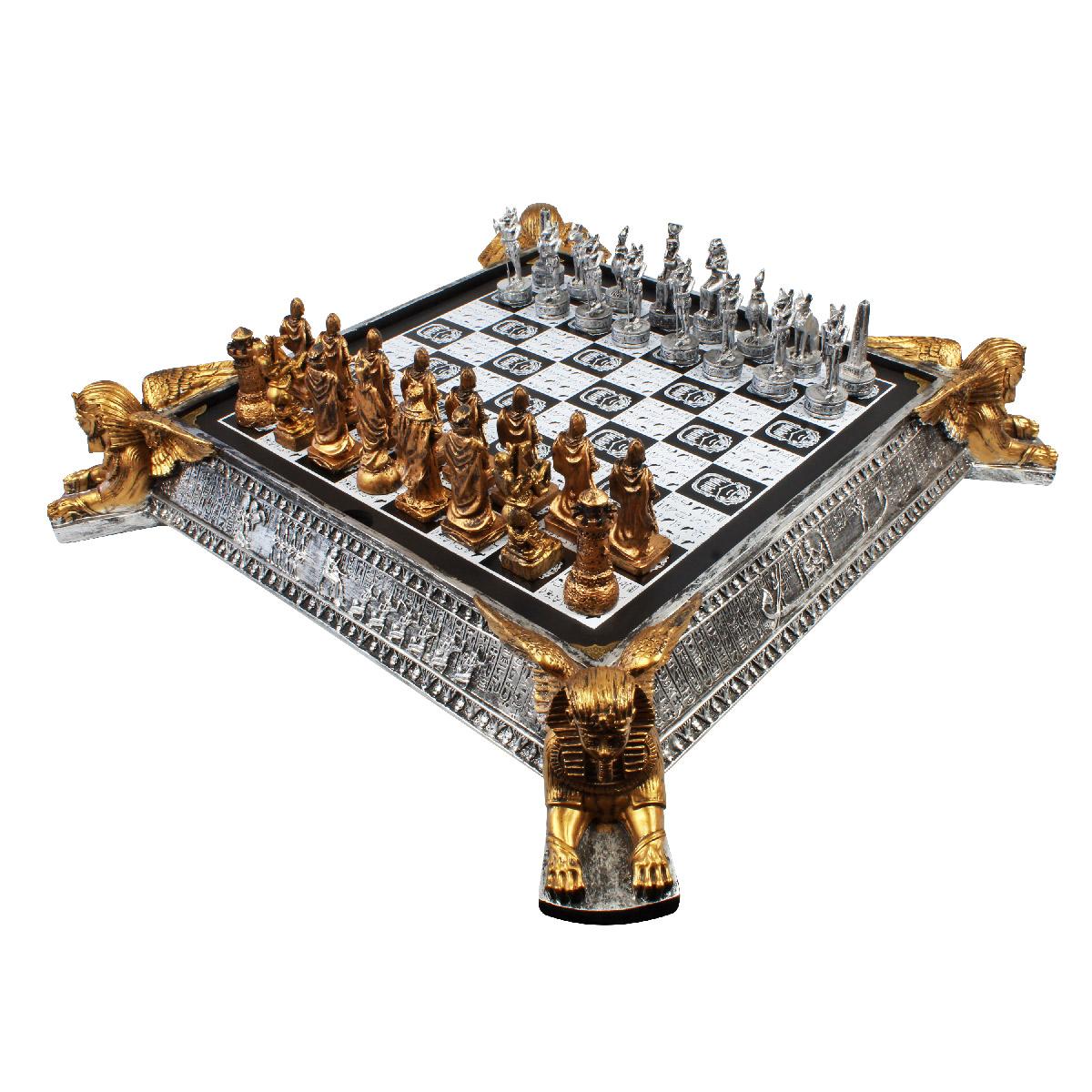 Tabuleiro de Xadrez Luxo Reis do Egíto vs A Grande Batalha