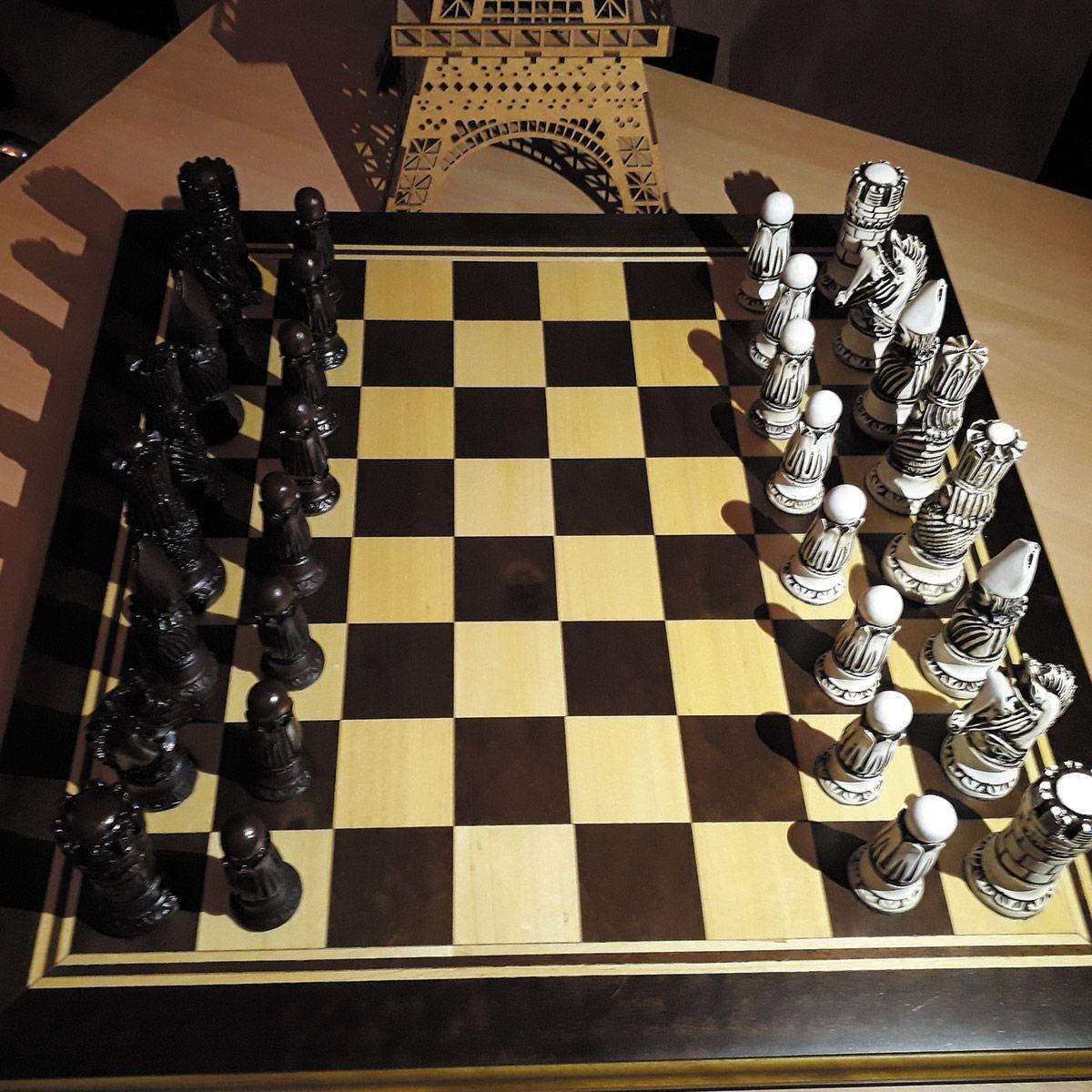 Tabuleiro de Xadrez Luxo Victoriano 32 Peças