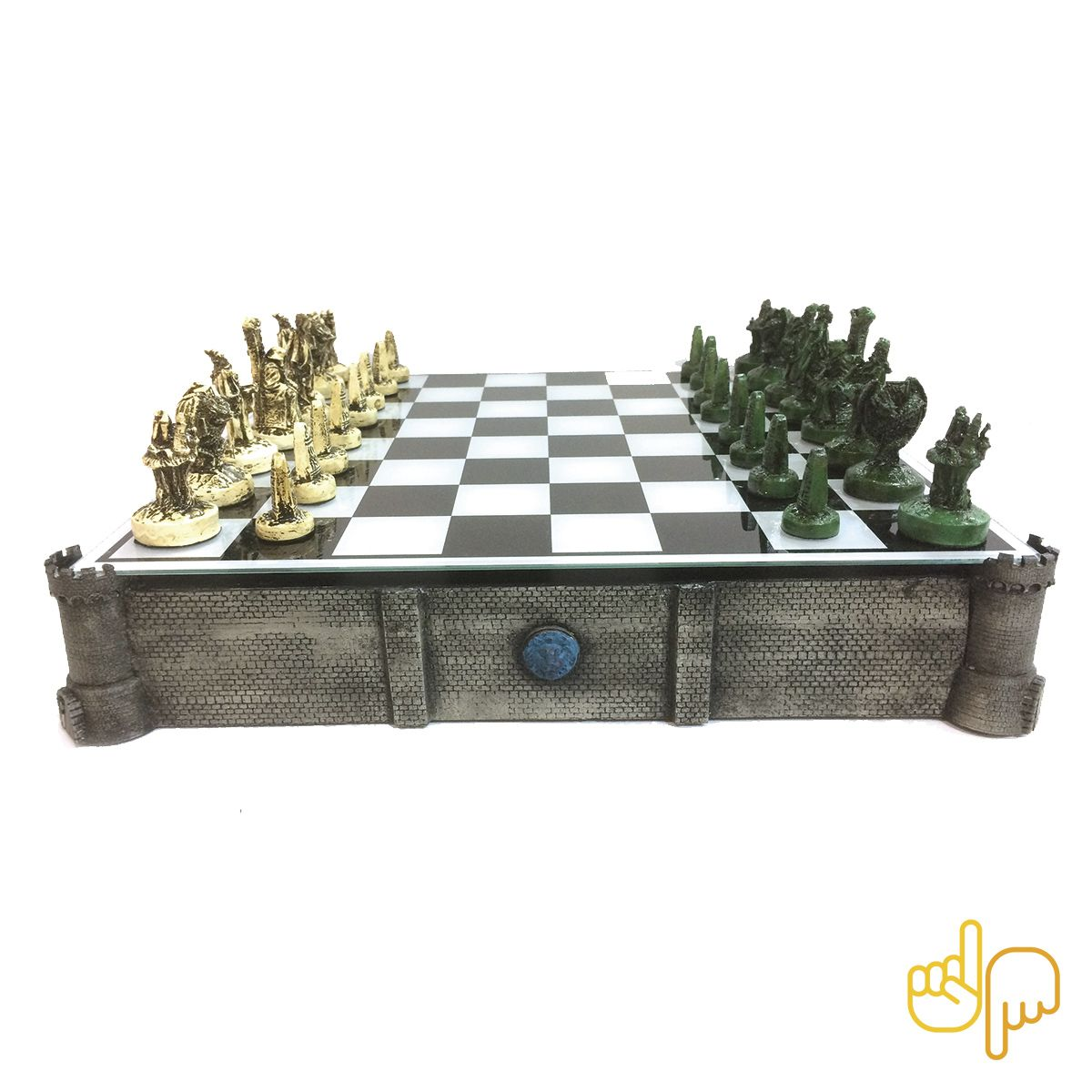 Tabuleiro de Xadrez Nerd Castelo de Batalha RPG 32 peças