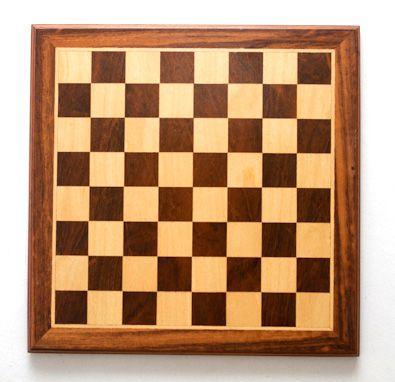 Tabuleiro de Xadrez Plano Marchetado madeira nobre 45x45cm